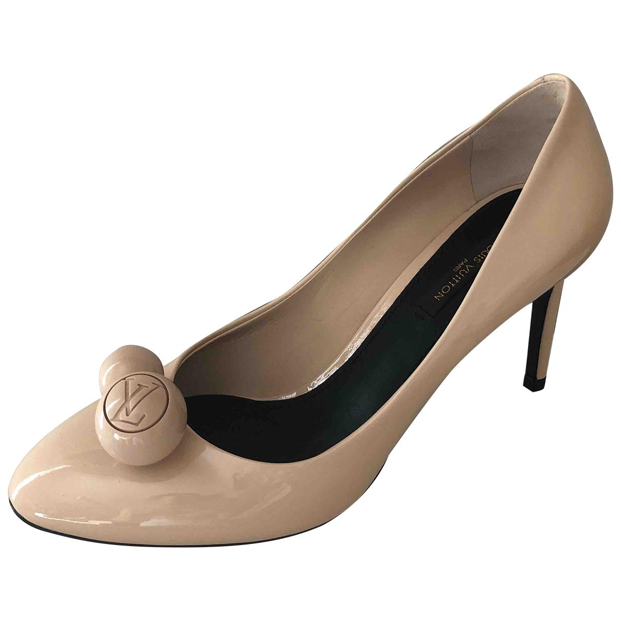 Louis Vuitton - Escarpins   pour femme en cuir verni - beige