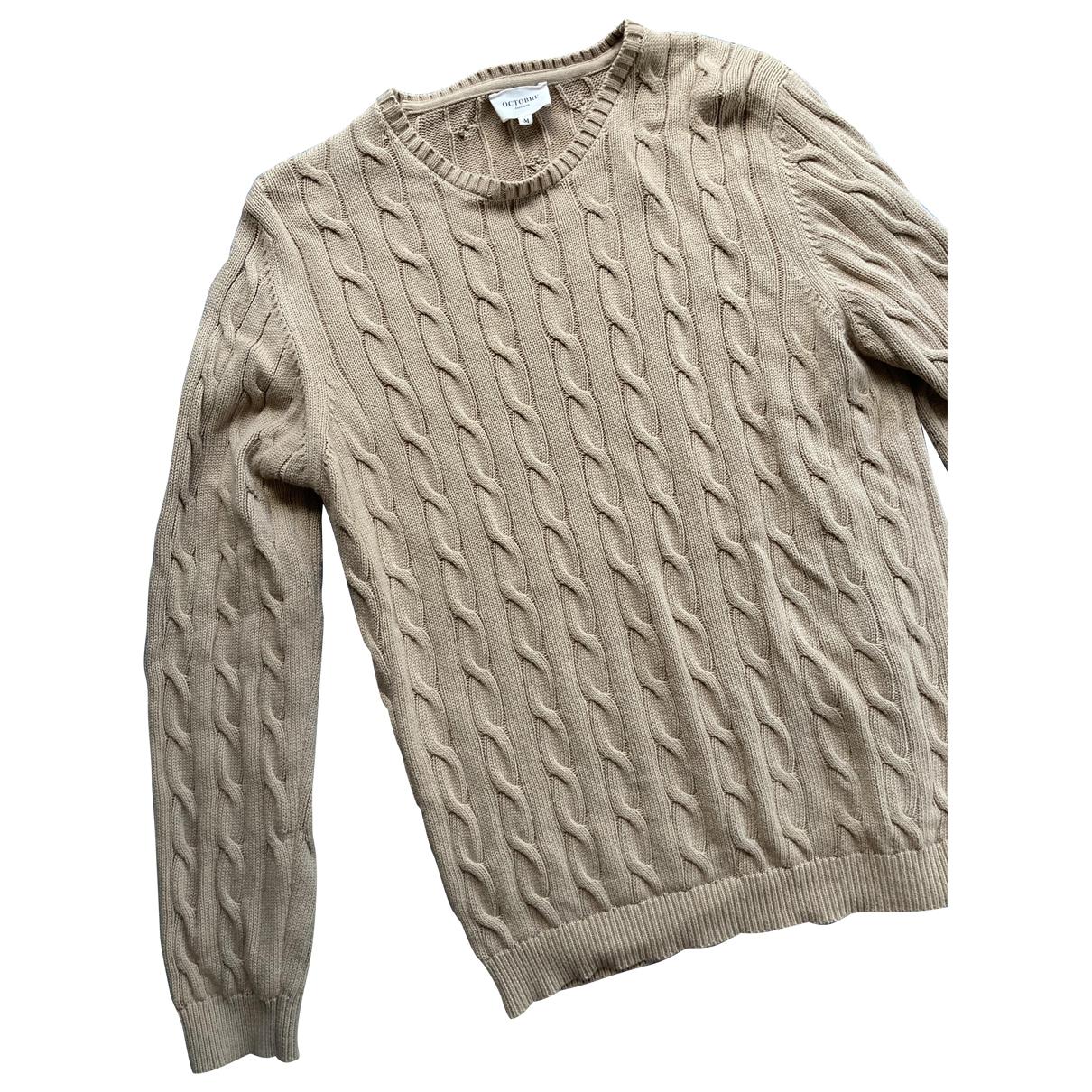 Octobre Editions - Pulls.Gilets.Sweats   pour homme en coton - beige