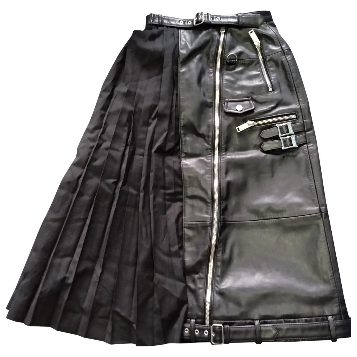 Christian Dada - Jupe   pour femme en cuir - noir