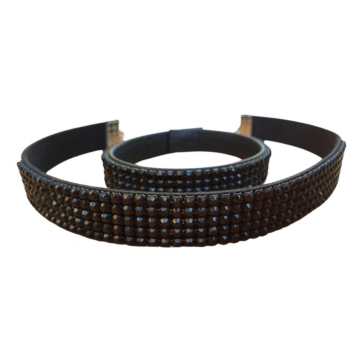 Collar de Cuero Swarovski