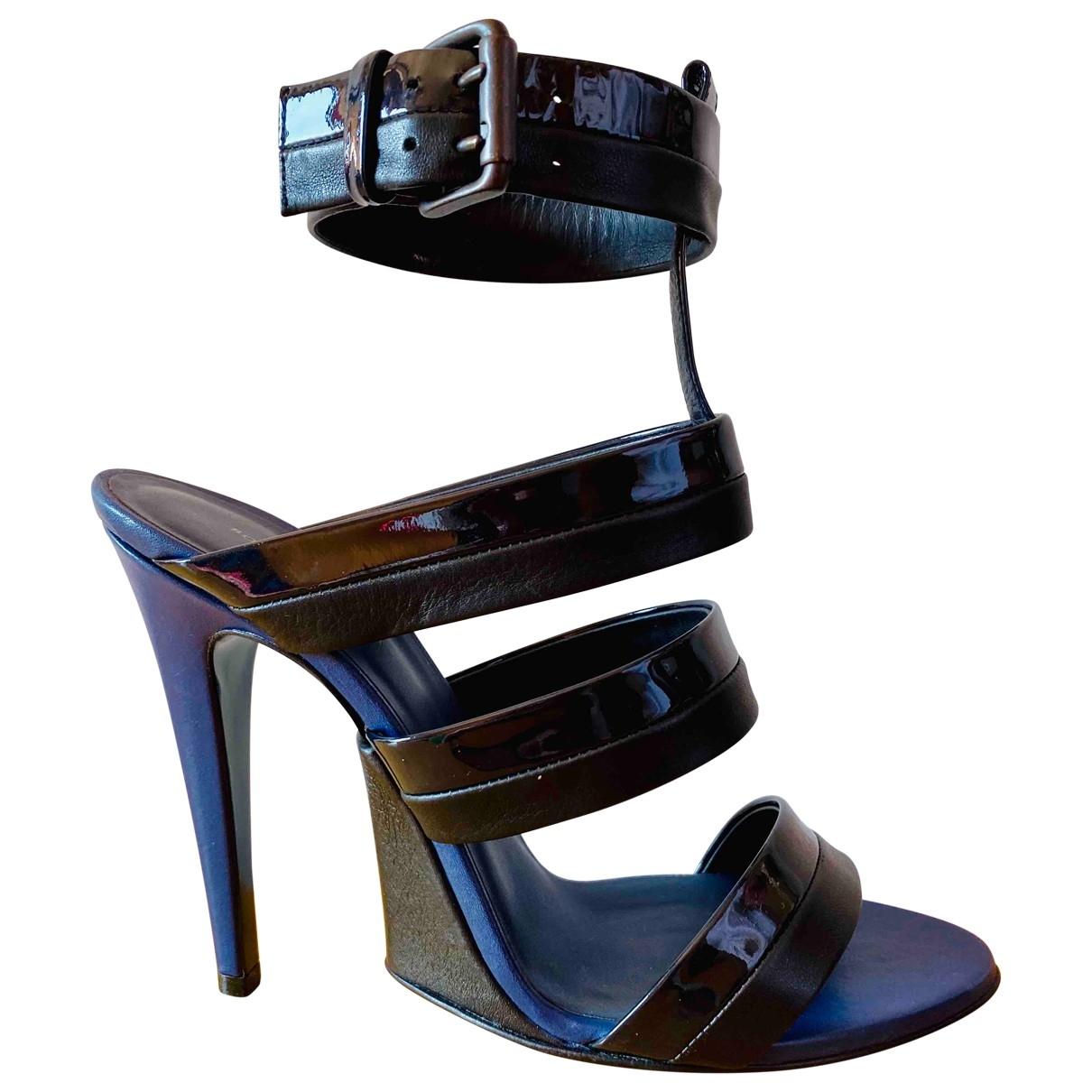 Bottega Veneta \N Blue Leather Sandals for Women 40 EU