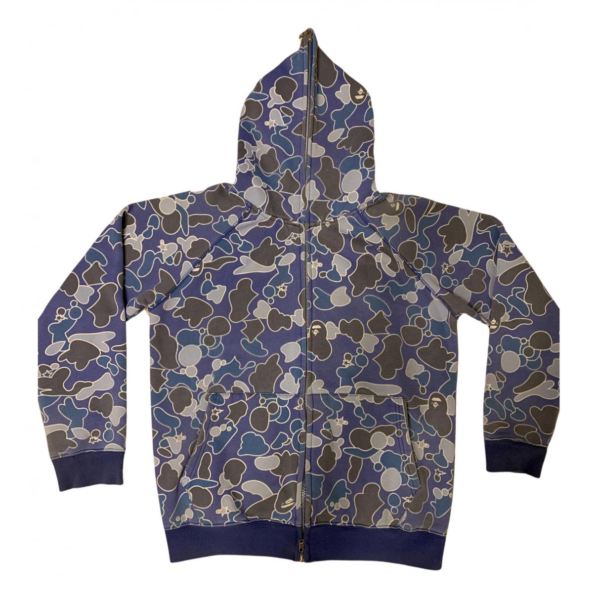 A Bathing Ape \N Pullover.Westen.Sweatshirts  in  Blau Baumwolle