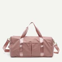 Solid Nylon Duffle Bag