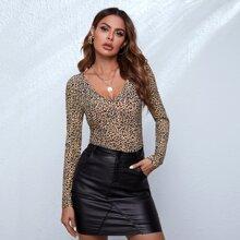 T-Shirt mit Leopard Muster