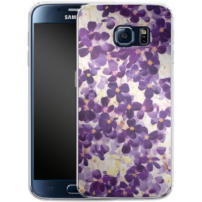 Samsung Galaxy S6 Silikon Handyhuelle - Violet Bloom von Amy Sia