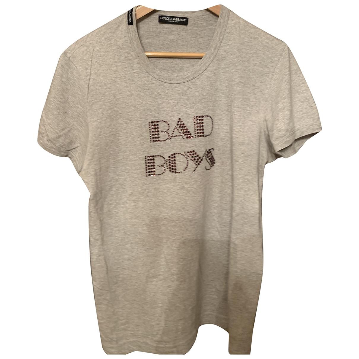 Dolce & Gabbana \N Grey Cotton T-shirts for Men M International