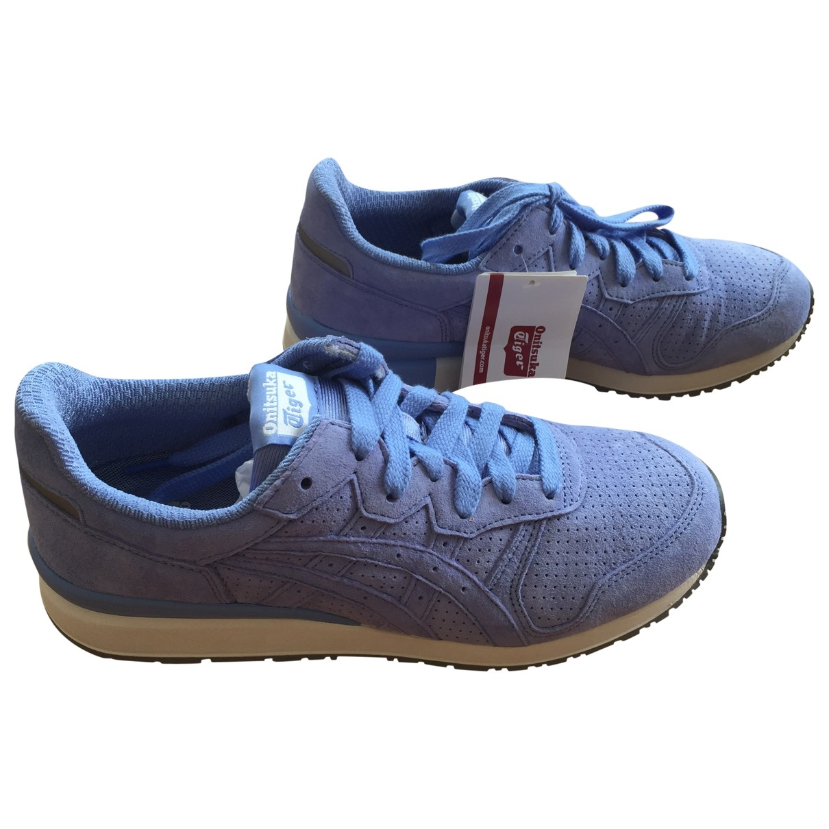 Asics \N Sneakers in  Blau Leder