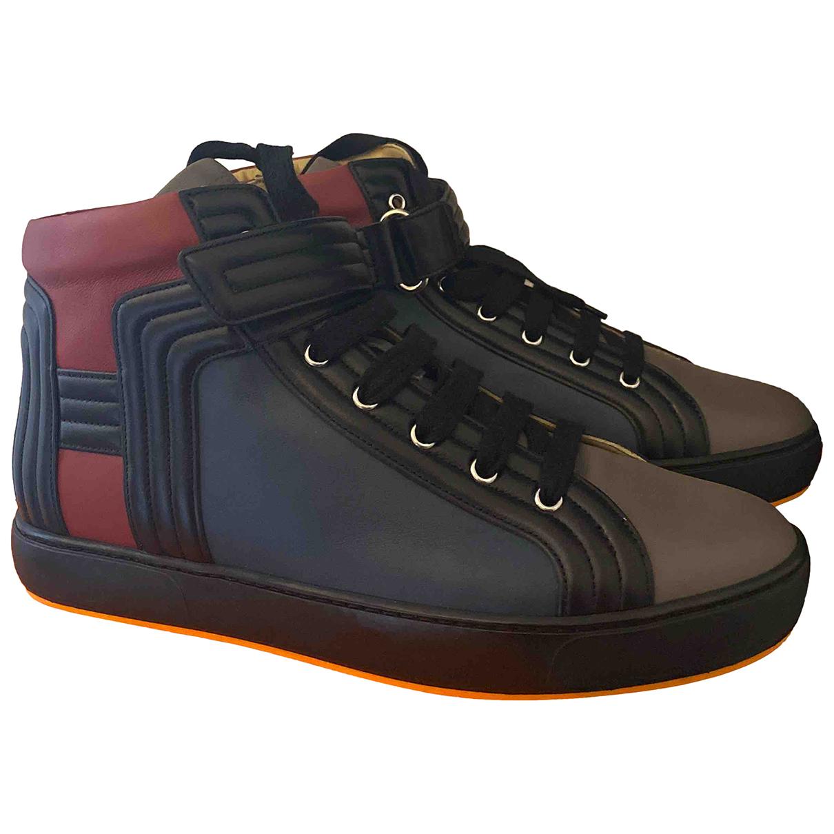 Hermes - Baskets   pour homme en cuir - multicolore