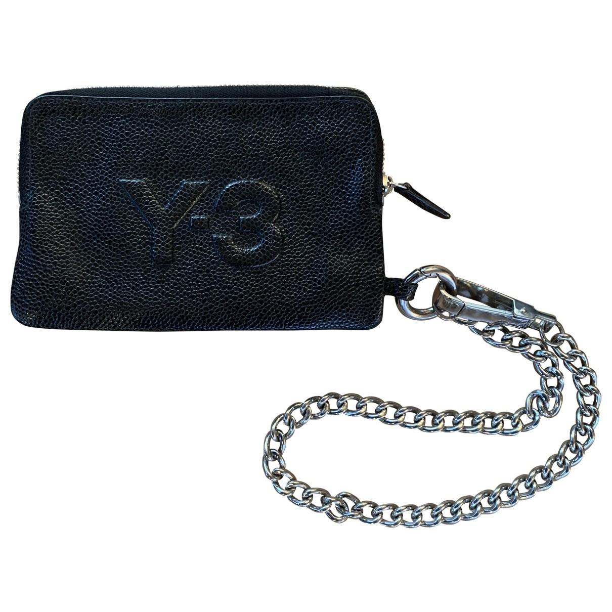 Y-3 \N Black Leather wallet for Women \N