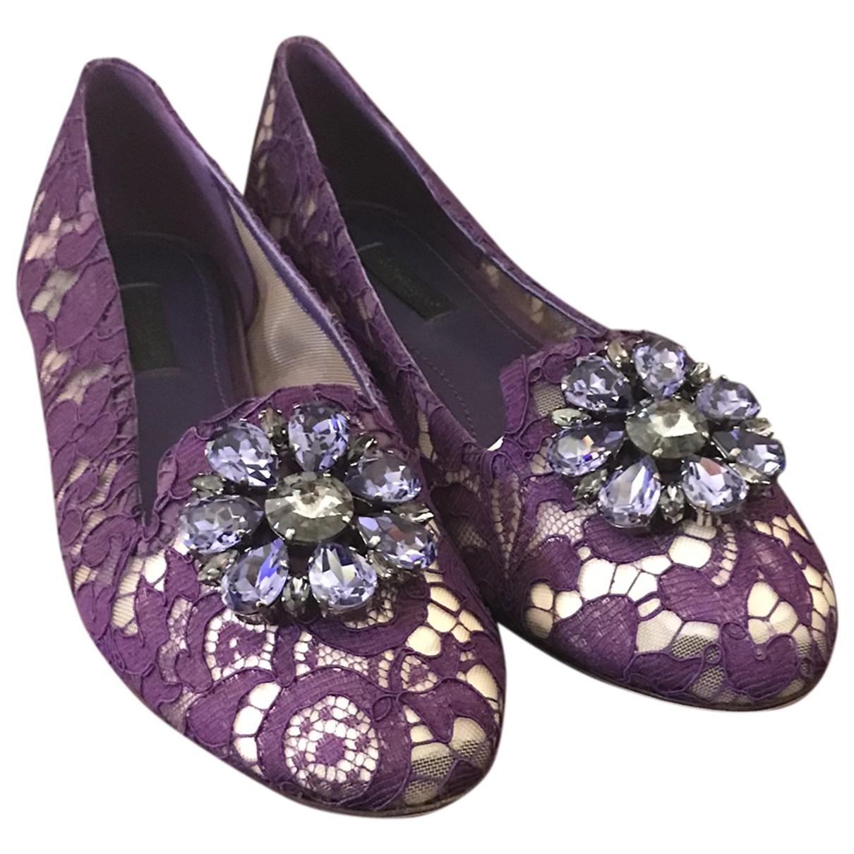 Dolce & Gabbana Taormina Purple Cloth Ballet flats for Women 38 EU
