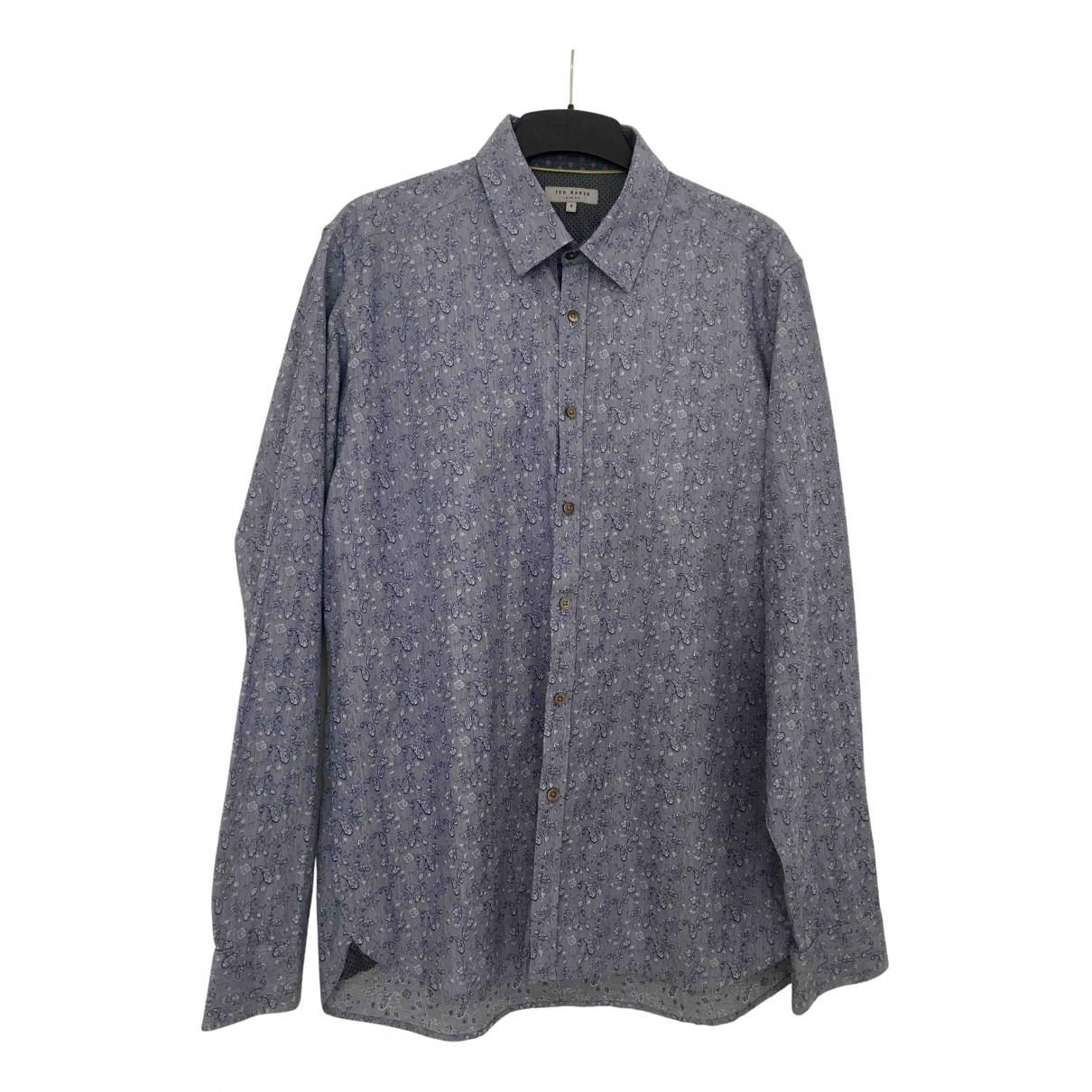 Ted Baker - Chemises   pour homme en coton - bleu
