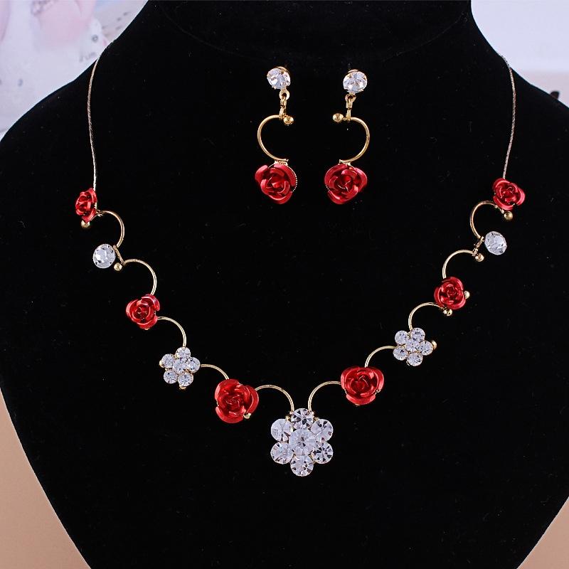 Ericdress Korean Water Drop Necklace Jewelry Sets