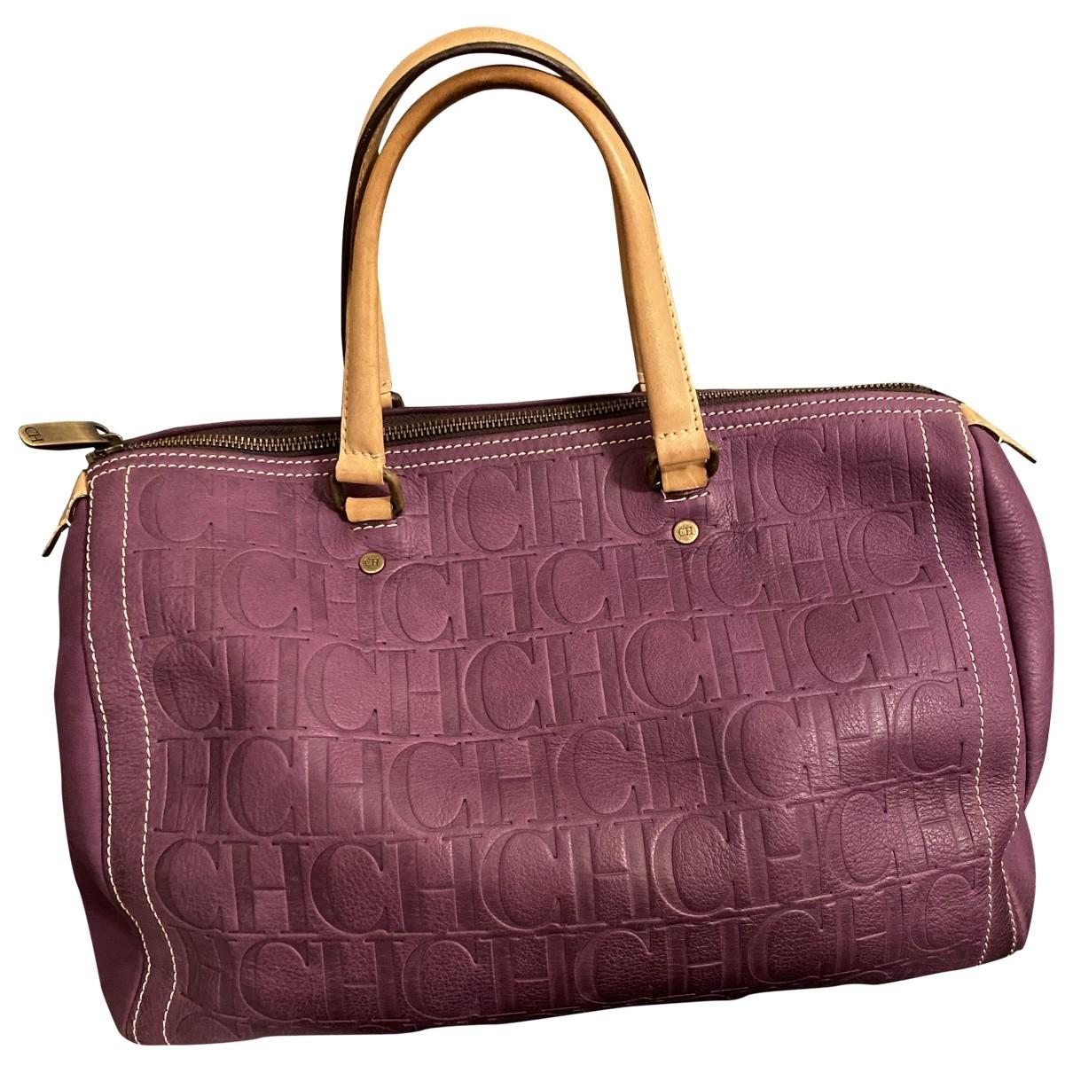 Carolina Herrera - Sac a main   pour femme en cuir - violet