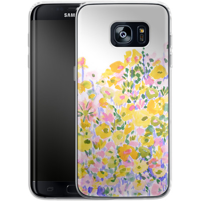 Samsung Galaxy S7 Edge Silikon Handyhuelle - Flower Fields Sunshine von Amy Sia
