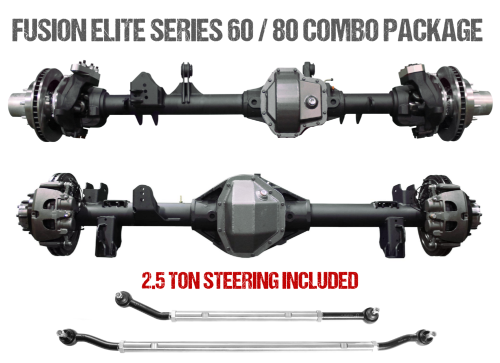 Jeep JL Axle Assembly Fusion Elite 60/80 Package 72 Inch 18-Pres Wrangler JL Gear Ratio 4.56 Auburn ECTED MAX E-Locker Fusion 4x4