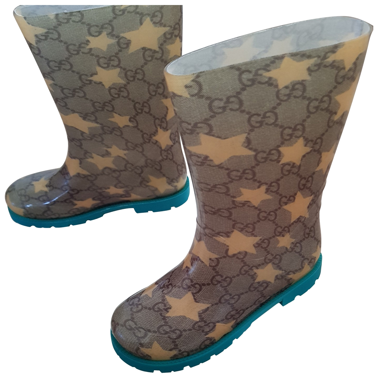 Gucci \N Beige Rubber Boots for Kids 30 EU