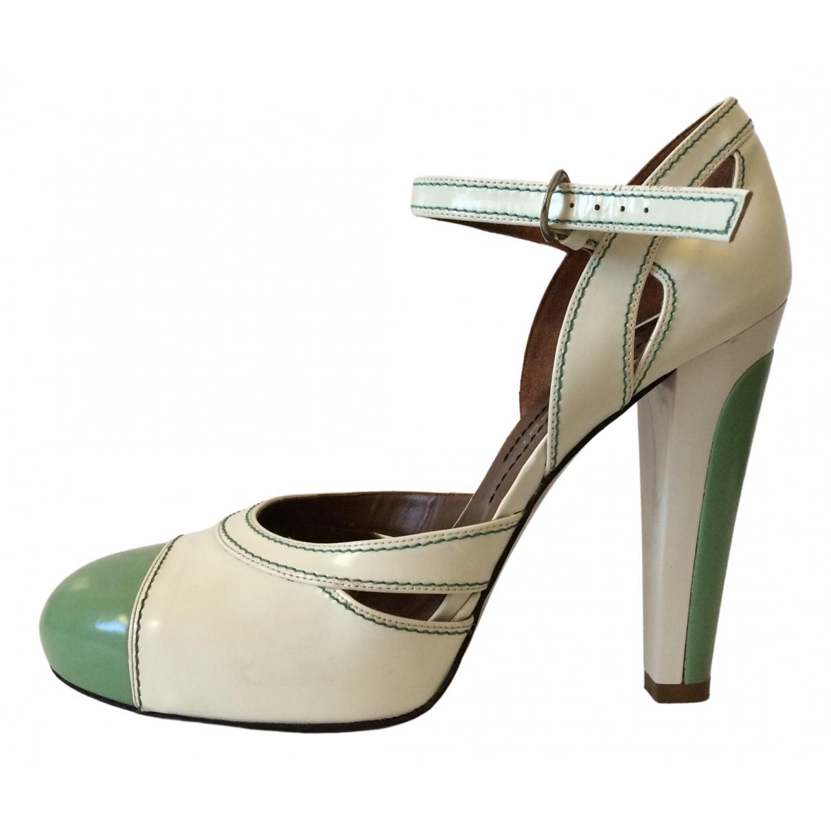 Barbara Bui \N White Patent leather Heels for Women 39.5 EU
