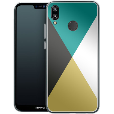 Huawei P20 Lite Silikon Handyhuelle - Four Triangles von caseable Designs