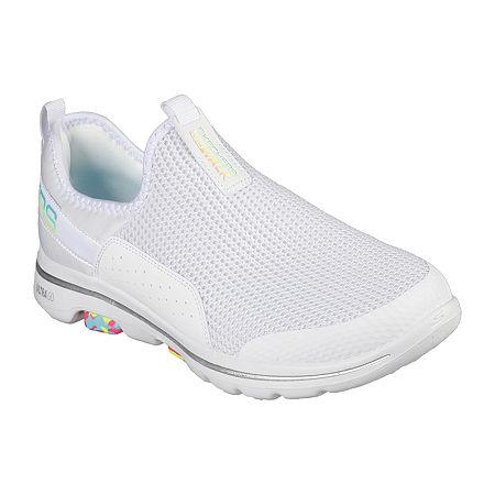 Skechers Go Walk 5 - Parade Womens Walking Shoes, 8 1/2 Medium, White