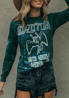 Vintage 1977 Tour Long Sleeve T-Shirt Tee - Dark Green