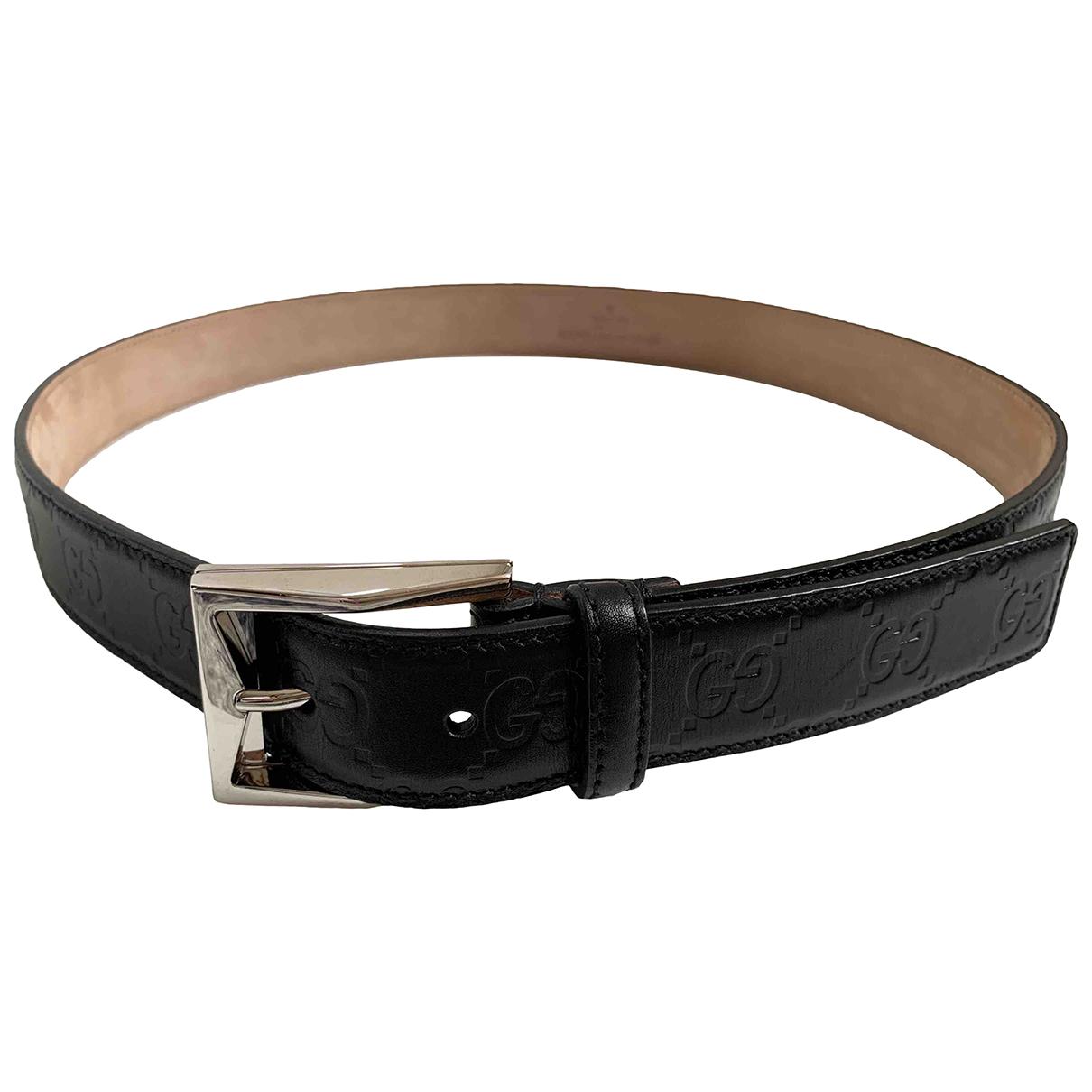 Gucci \N Black Leather belt for Women 80 cm