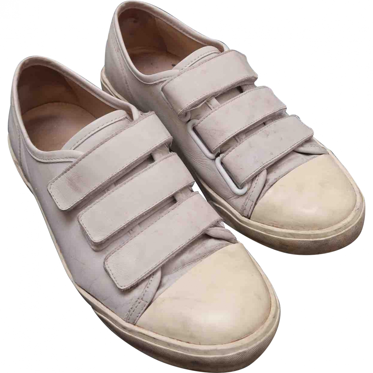 Apc \N White Leather Trainers for Men 40 EU