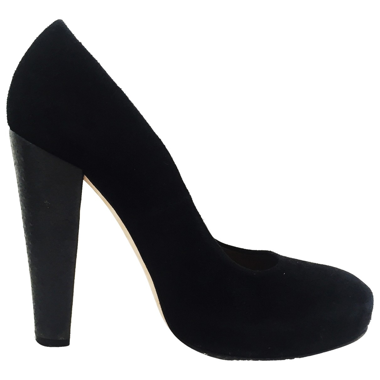 Carven \N Black Suede Heels for Women 38 EU