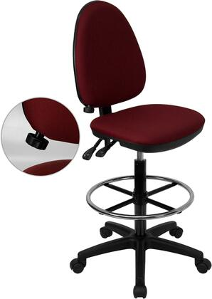 WL-A654MG-BY-D-GG Task Office Chair with Adjustable Height  Swivel Seat  Adjustable Lumbar Support  Dual Wheel Casters  Back Height Adjustment Knob
