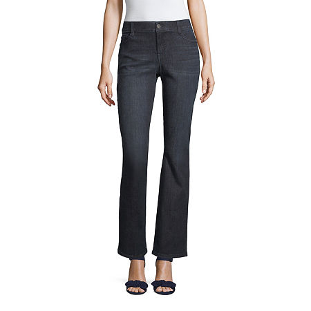 Liz Claiborne Flexi Fit Bootcut Jean - Tall, 6 Tall , Blue