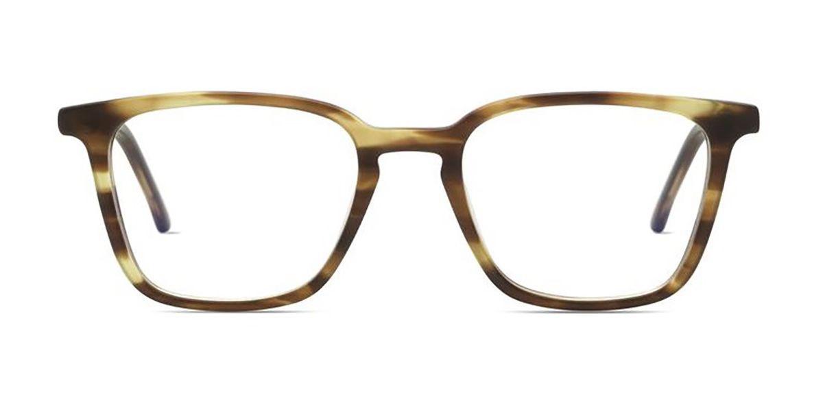 Komono Ethan Blue-Light Block O6052 Men's Glasses Brown Size 52 - Free Lenses - HSA/FSA Insurance - Blue Light Block Available
