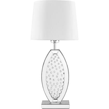 ML9313 Sparkle Collection 1-Light Silver Finish Table