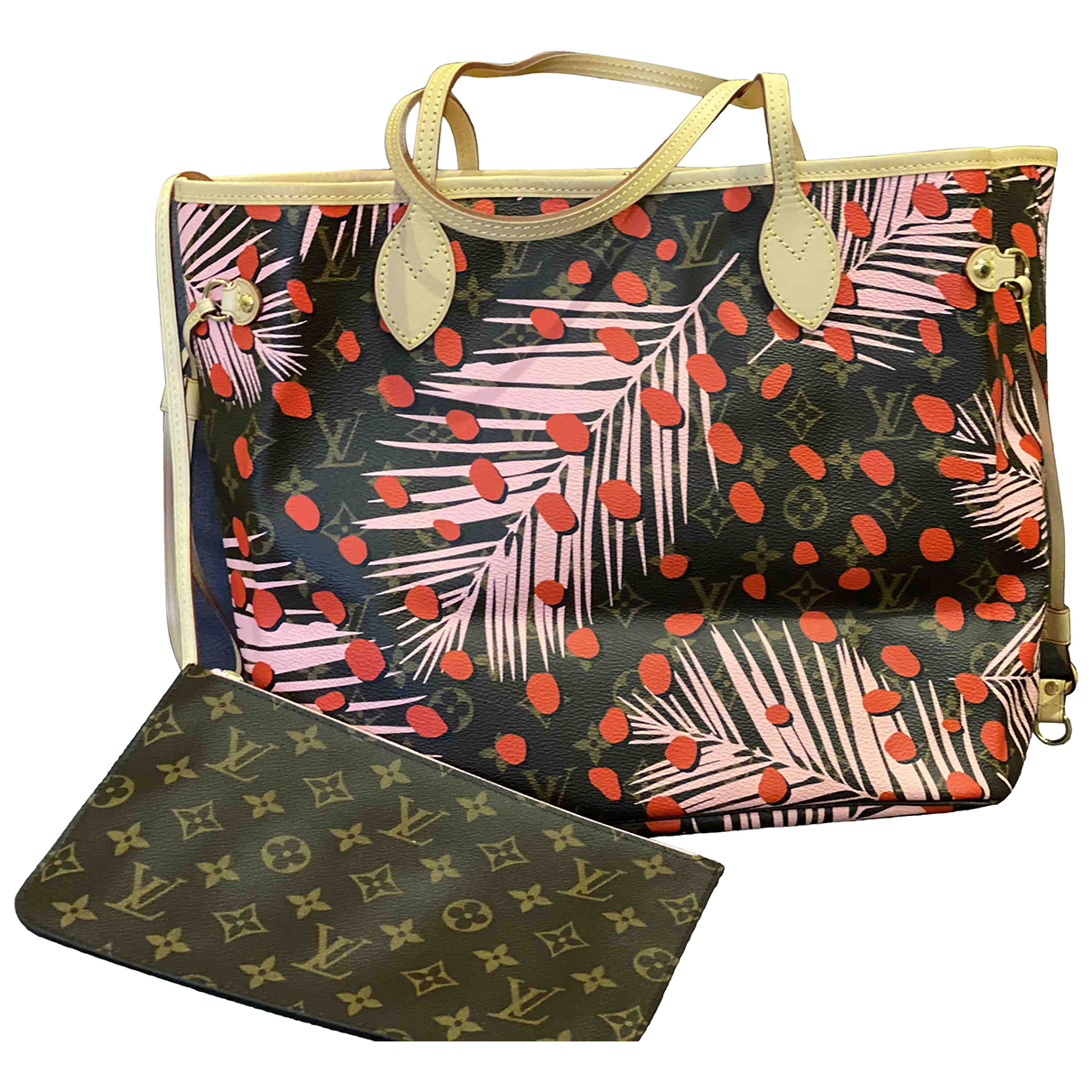 Louis Vuitton - Sac a main Neverfull pour femme en toile - multicolore