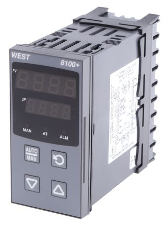 West Instruments P8100 PID Temperature Controller, 96 x 48 (1/8 DIN)mm, 1 Output Linear, 100 V ac, 240 V ac Supply