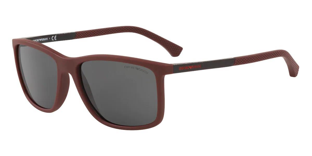 Emporio Armani EA4058 525187 Men's Sunglasses Burgundy Size 58
