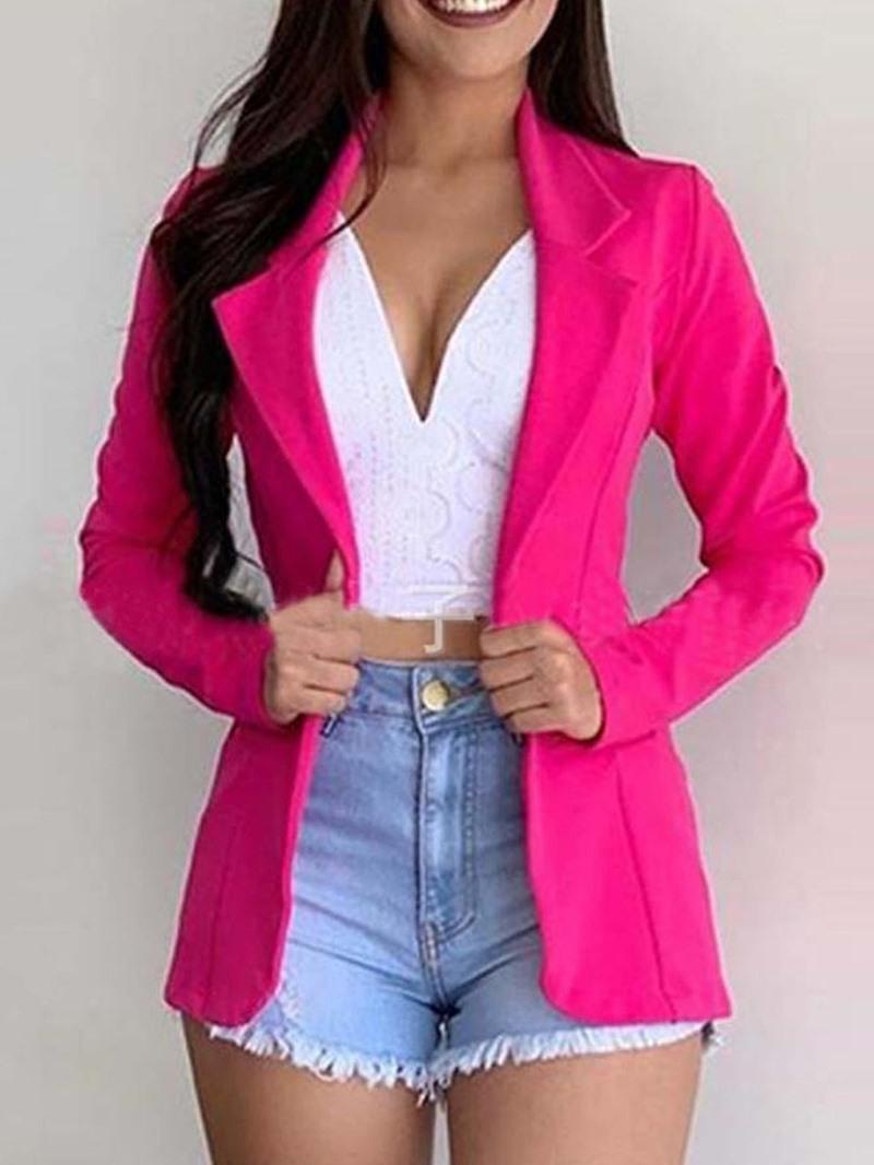 Ericdress Plain Regular Mid-Length Women's Casual Blazer