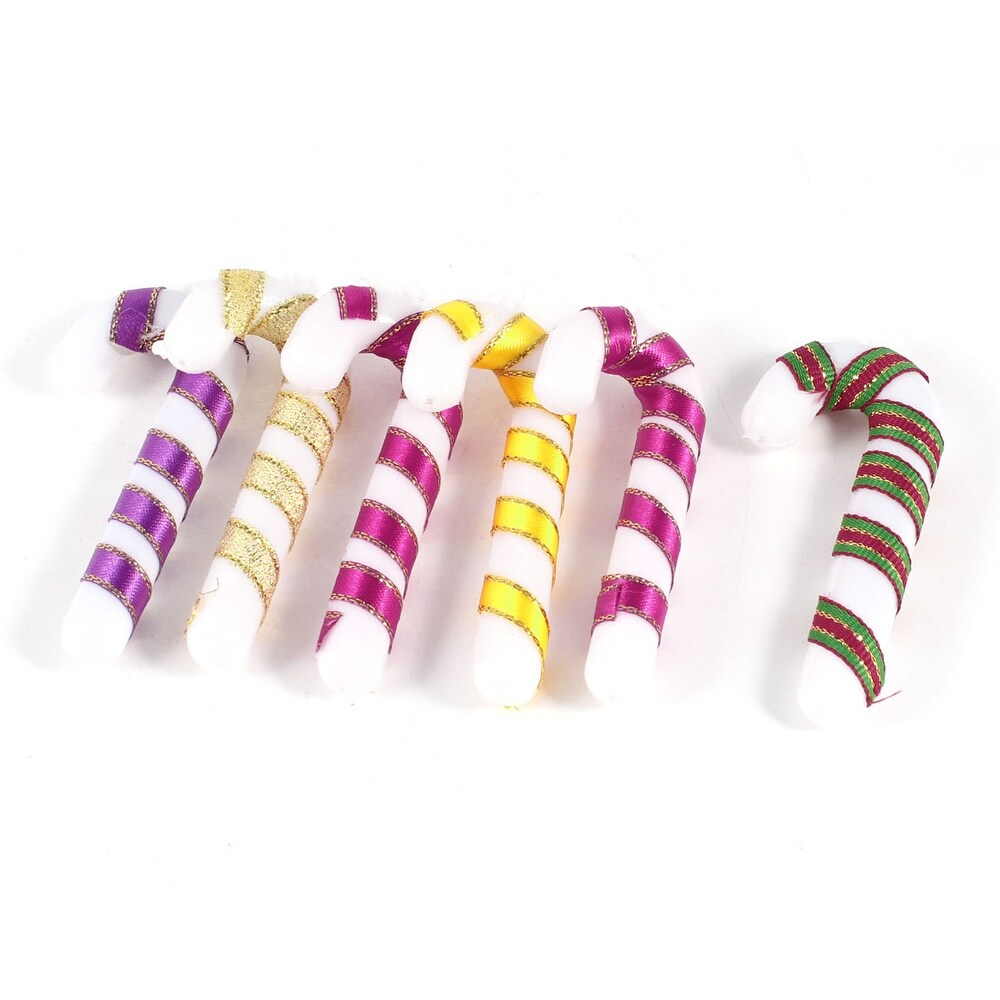 6 x DIY Handmade Hanging Candy CaneDecor for Christmas Tree - Multicolor (Multicolor)