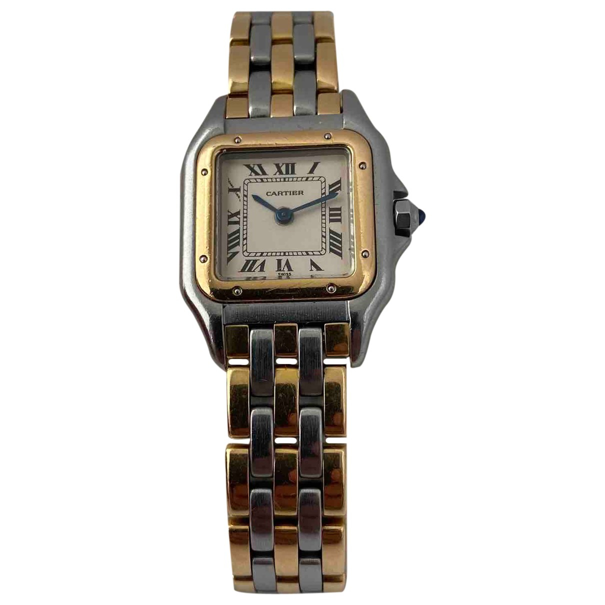 Cartier Panthere Uhr in  Ecru Gold und Stahl