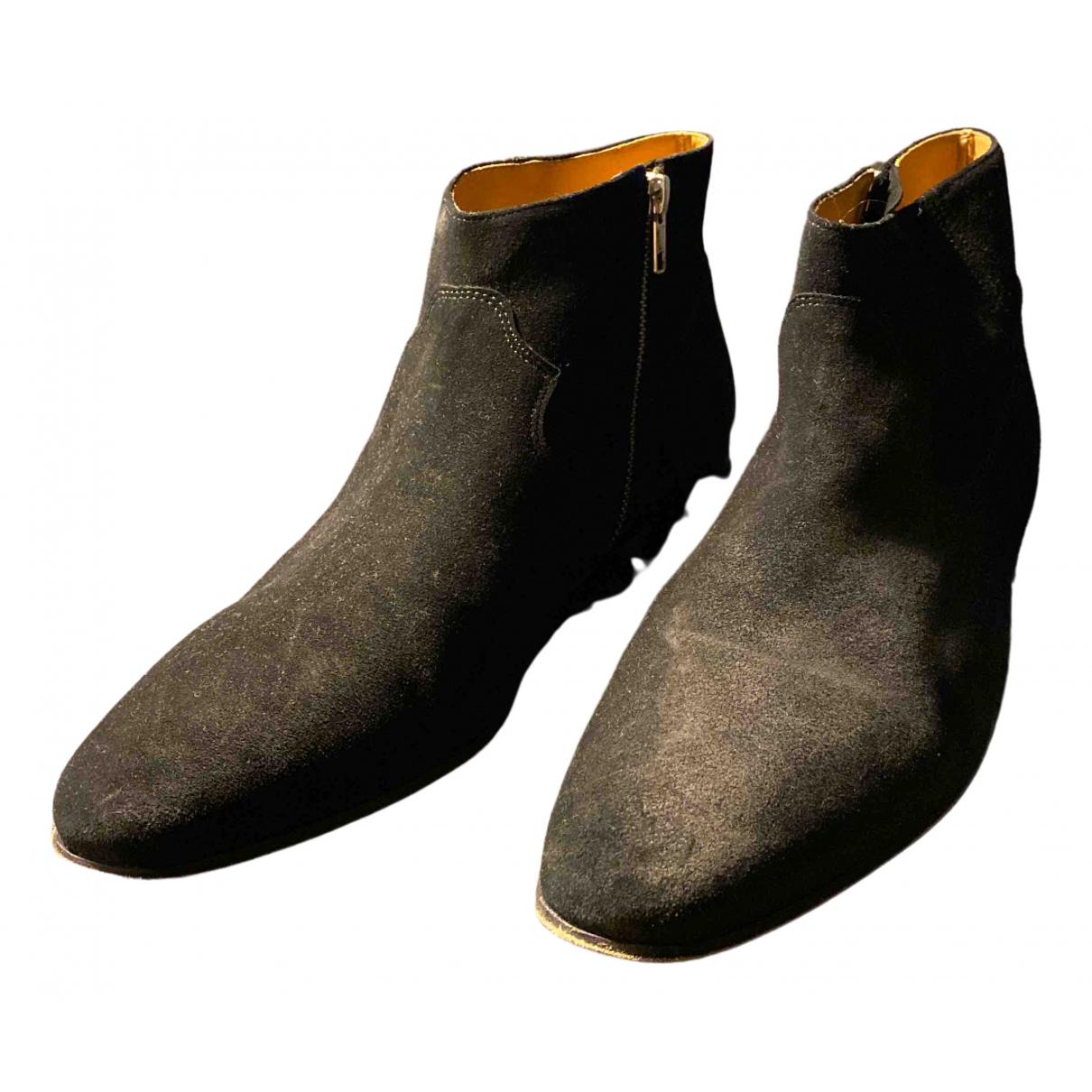 Iro \N Stiefel in  Schwarz Leder