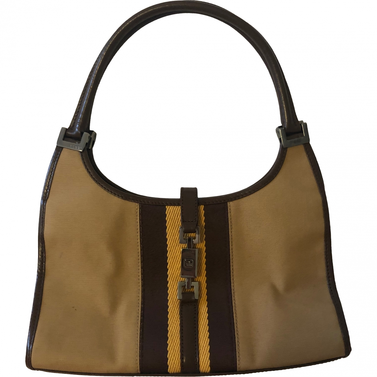 Gucci Jackie Vintage  Handtasche in  Kamel Leinen