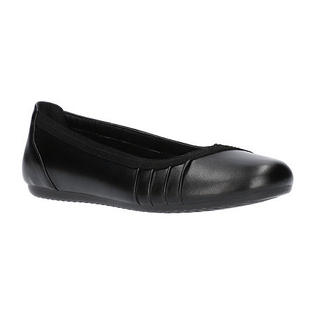 Easy Street Womens Denni Ballet Flats, 8 1/2 Wide, Black
