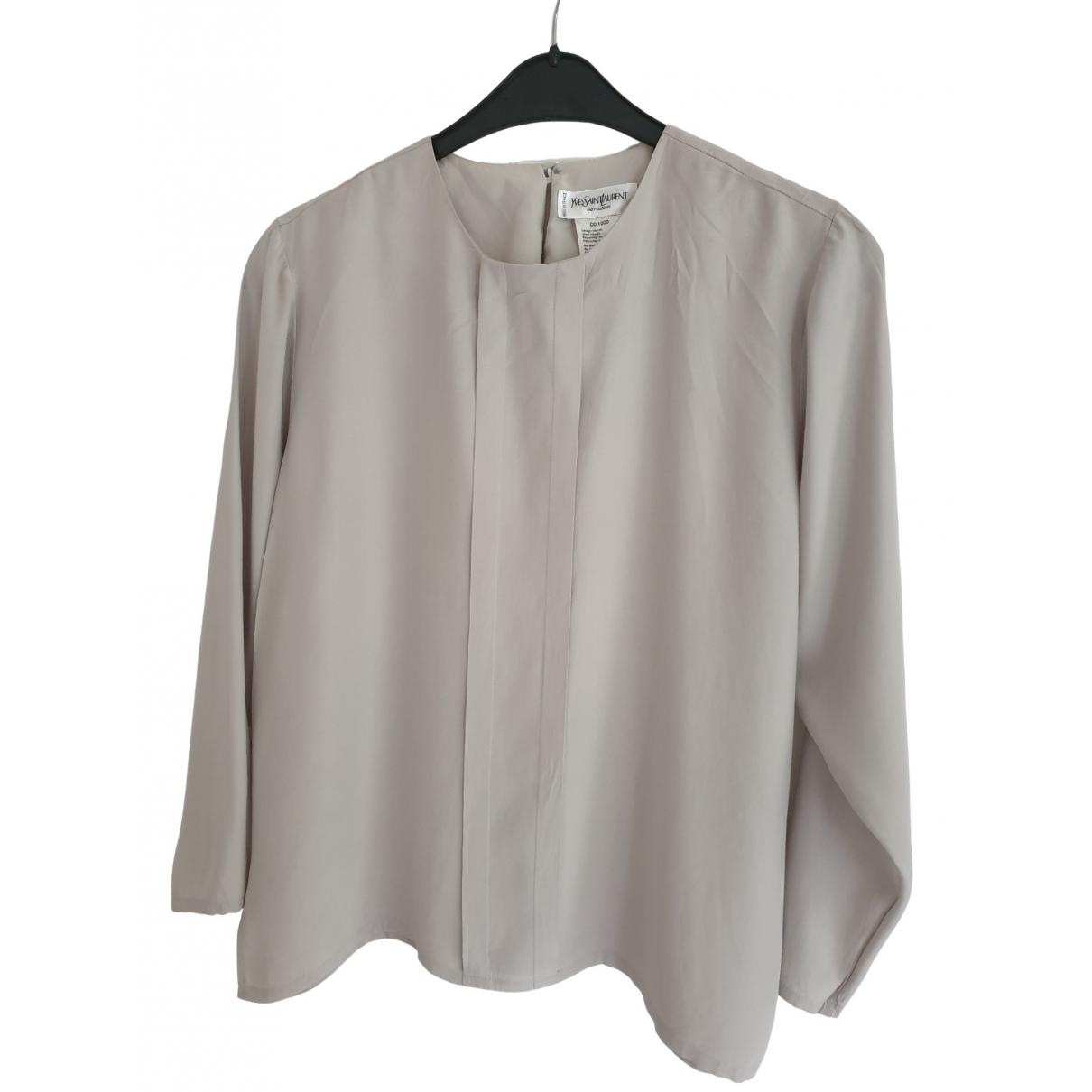 Blusa de Seda Yves Saint Laurent