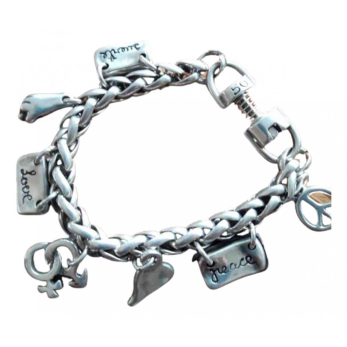 - Bracelet Medailles pour femme en acier - argente
