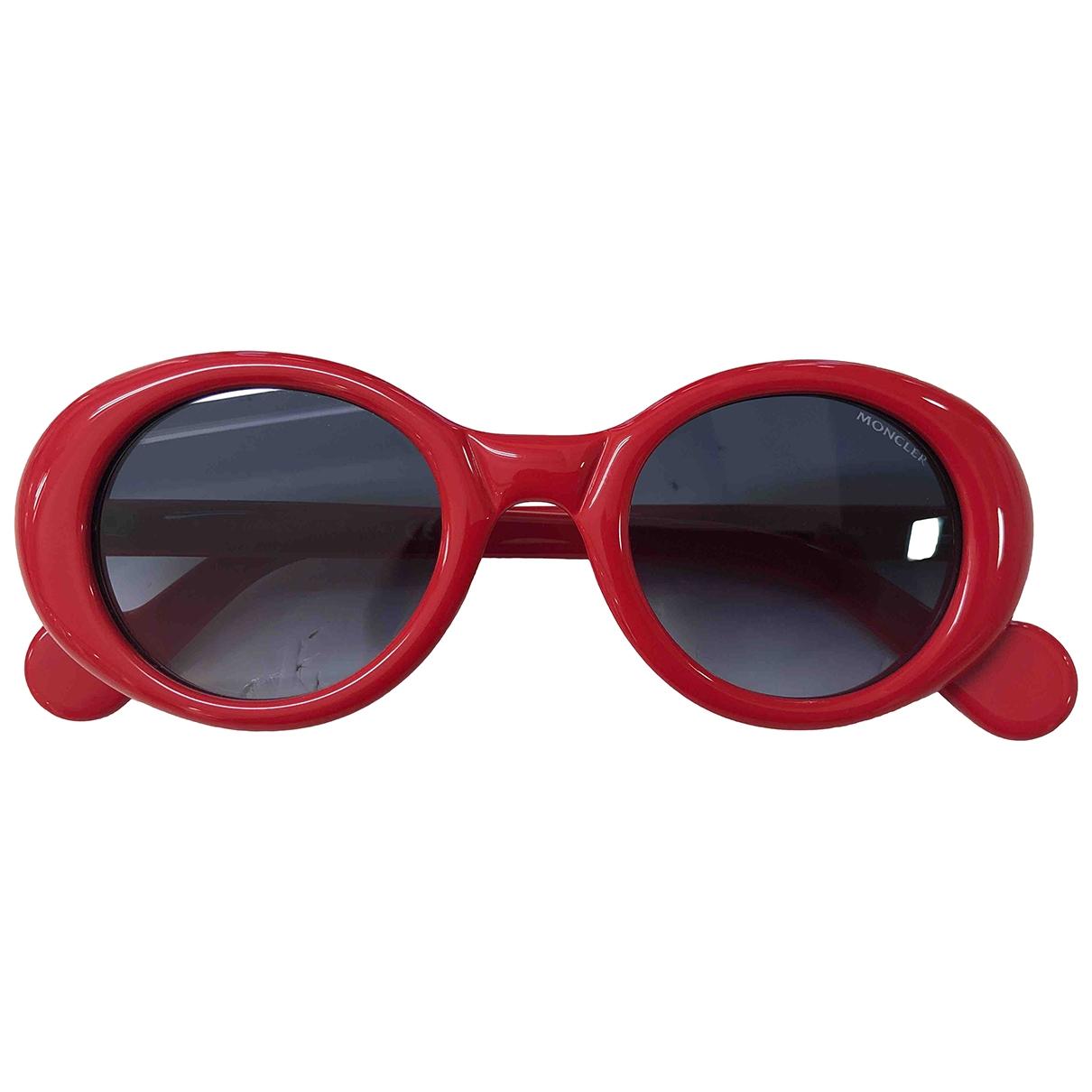 Moncler \N Sonnenbrillen in  Rot Kunststoff