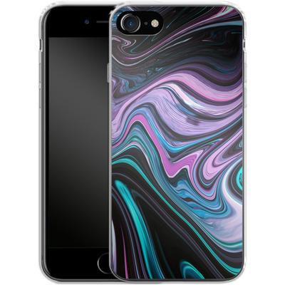 Apple iPhone 8 Silikon Handyhuelle - Digital Swirl von #basic