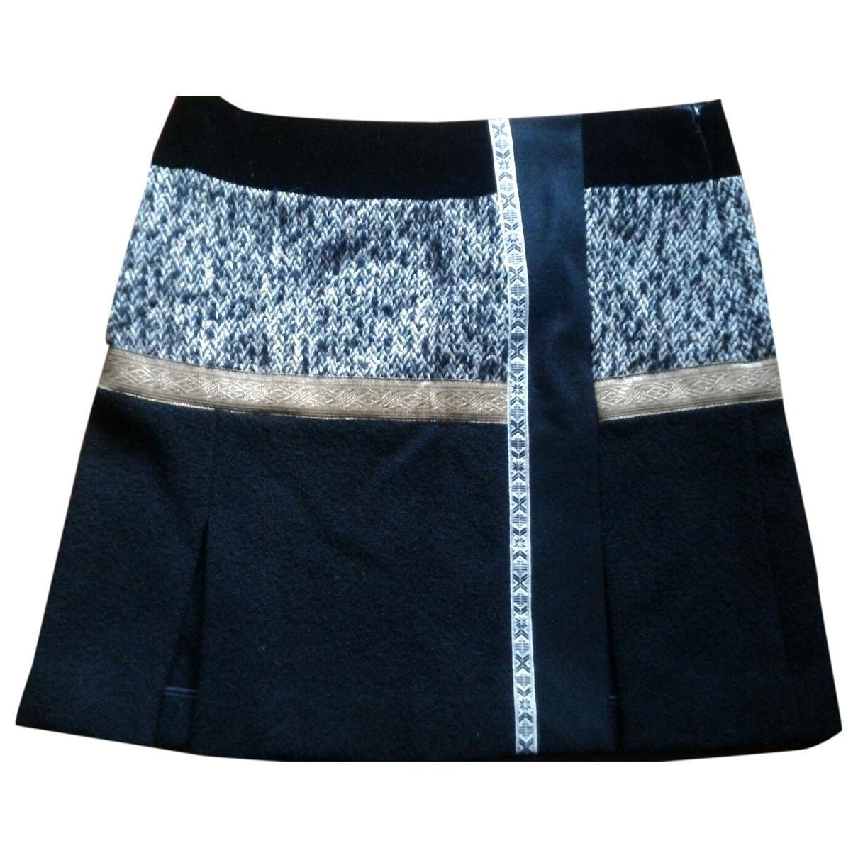 Etro \N Black Wool skirt for Women 46 IT