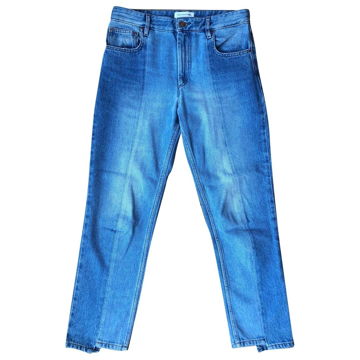 Isabel Marant Etoile \N Blue Denim - Jeans Trousers for Women 38 FR