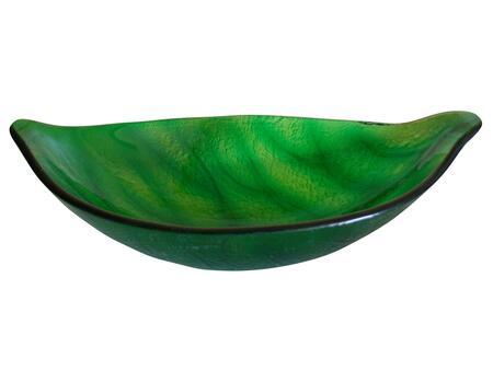 EB_GS18 Green Leaf Shaped Vessel