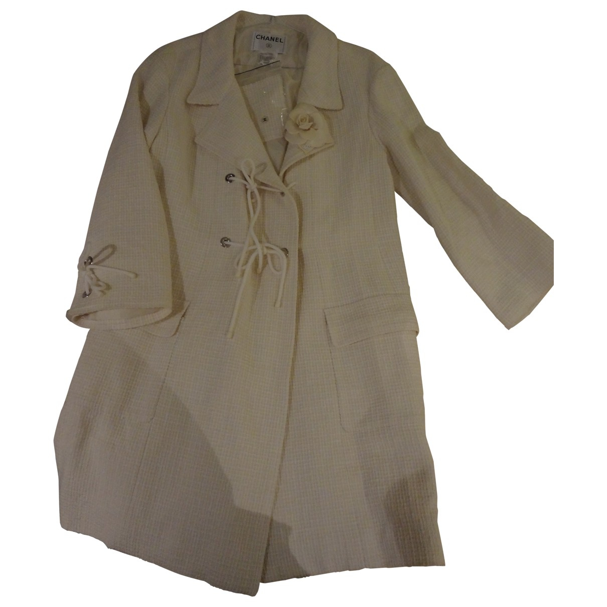 Chanel \N Ecru Tweed coat for Women 42 FR