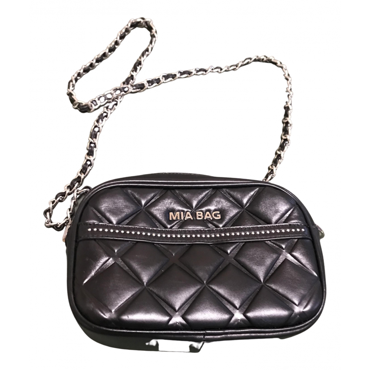 Mia Bag N Black Leather handbag for Women N