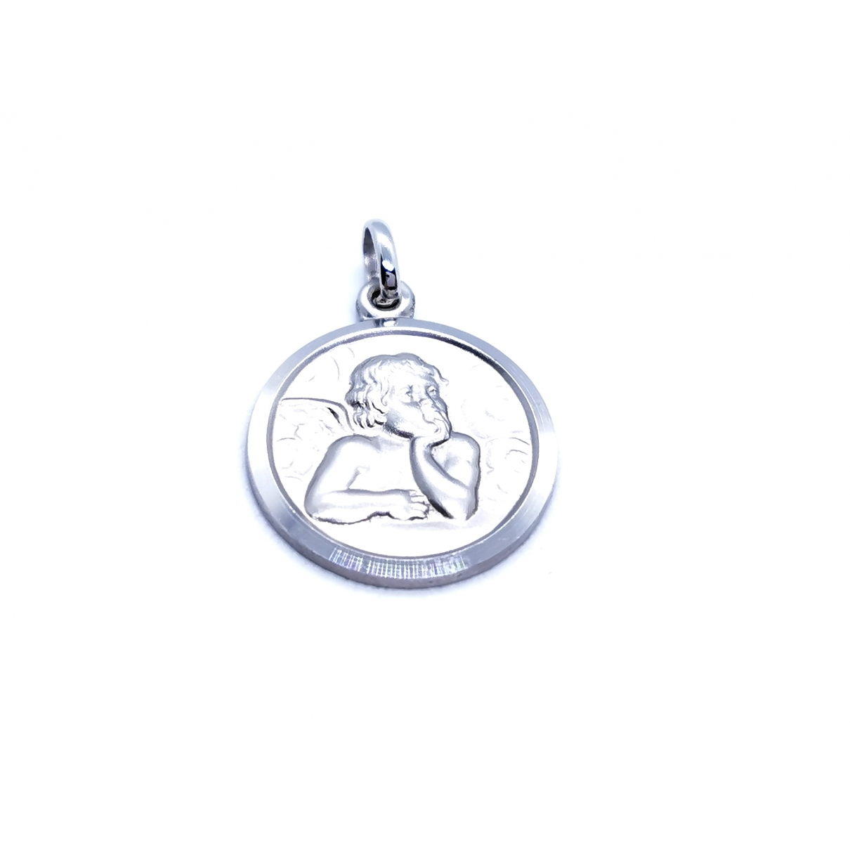 Non Signé / Unsigned \N Silver White gold pendant for Women \N